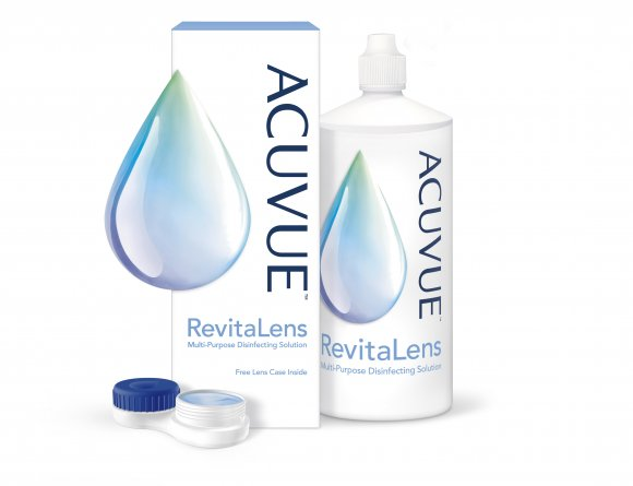 ACUVUE™ RevitaLens packaging, dispenser and lens case